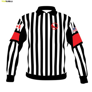 custom embroidery cheap european hockey referee jersey