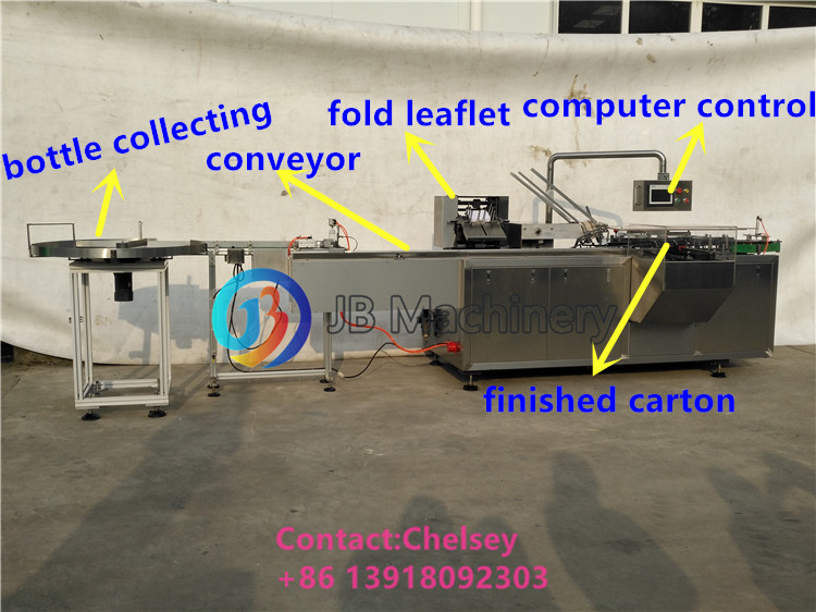 Multifunctionele Automatische Cartoning Machine voor Fles/Blister/Zeep/Roll/Cosmetische/Sachets/Zalf