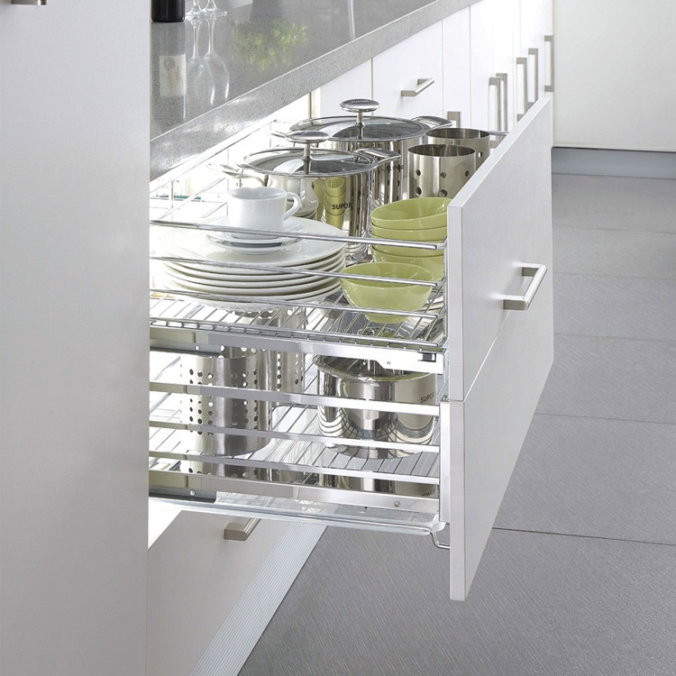 Heißer Verkauf Küchenschrank ziehen Geschirrkorb aus