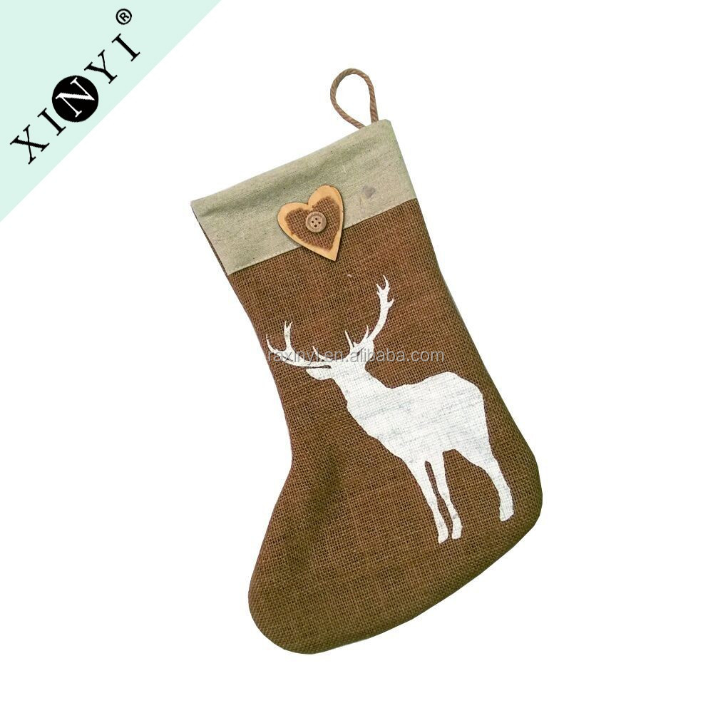 2016 China Promotional Gift Jute Animal Deer Design