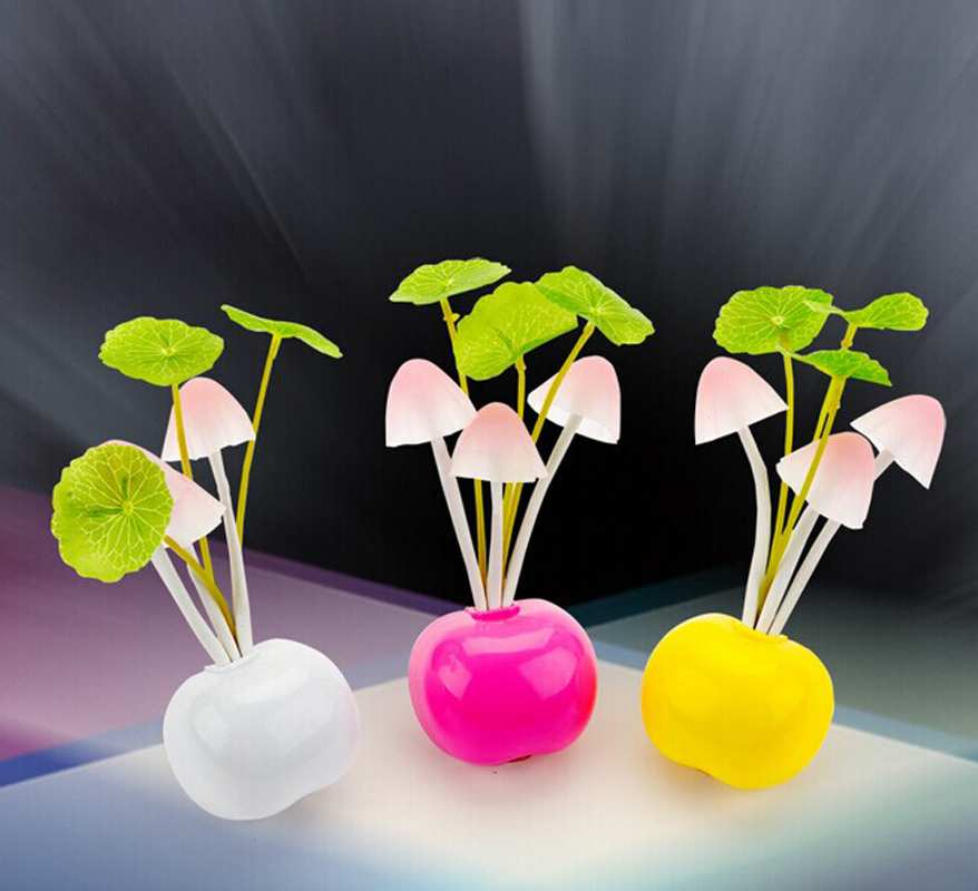Mushroom Dream Bedroom light home decoration Cozy RGB Induction Fungus Lamp EU Plug Light Sensor