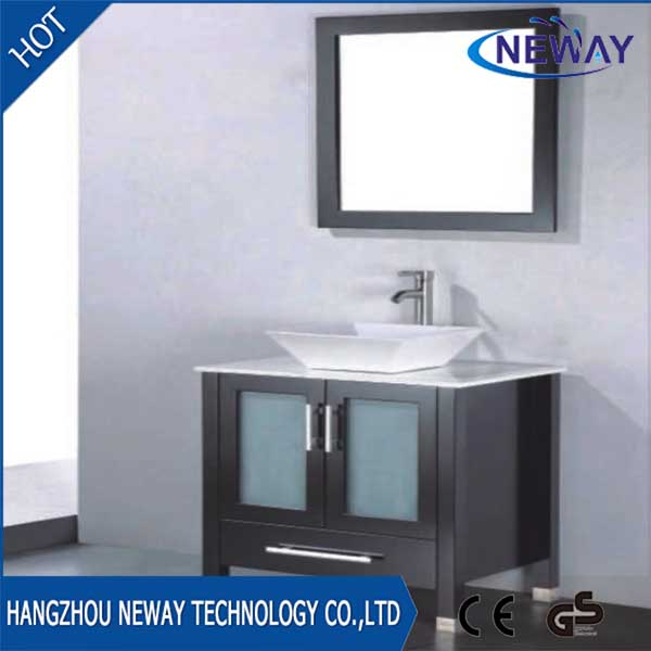American design pvc bathroom vanities glass doors