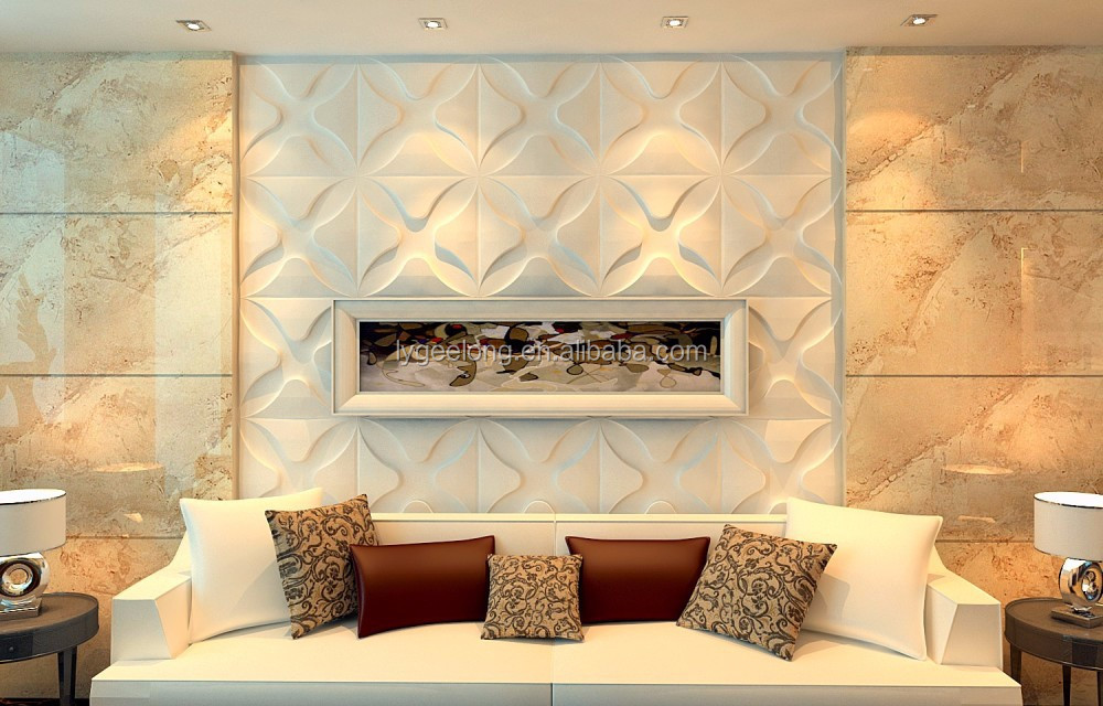 Plant Fiber Modern Art Deco Wall Panels /3d Wall Mural Panel - Buy ...