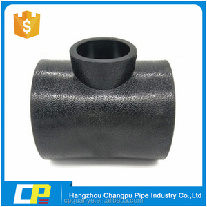 All size HDPE material pipe fittings socket reducing tee