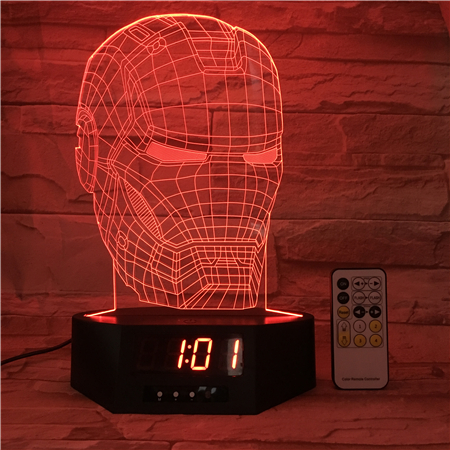 factory direct selling Lamp 3D Visual Led Night Lights for Kids Robot Touch USB Table Lampara as Besides