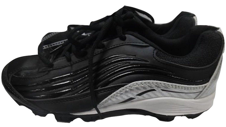 Classic Sport Youth Baseball Cleats Black//Silver NWOB