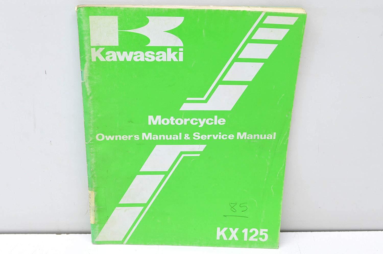 Get Quotations · Kawasaki 99920-1289-02 KX125 Motorcycle Owner's Manual & Service  Manual ...