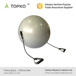 China Supplier 100cm 90cm 50cm 30cm Gym Ball With Resistance Bands yoga ball