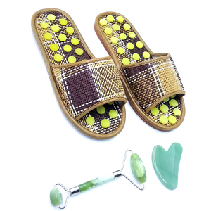 foot magnetic jade stone foot massage shoes for Acupuncture