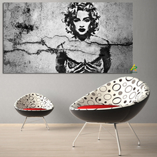 Famous Woman Madonna Pop painting digital printing canvas framed for home decoration
