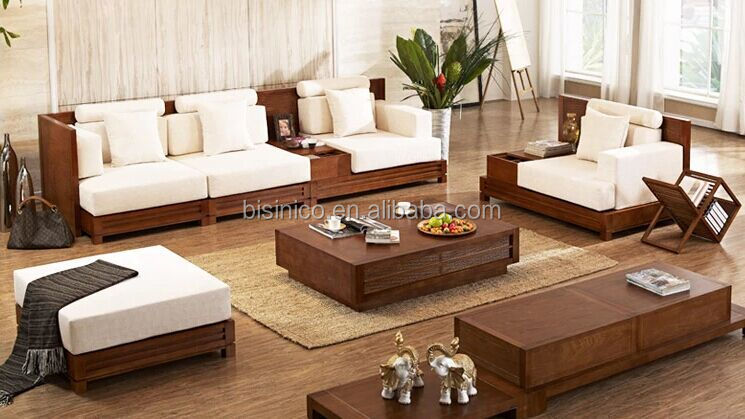 Southeast Asia Series Furniture Sofa Set, Delicate Life Wooden Sofa Set,  Manchurian Ash Living
