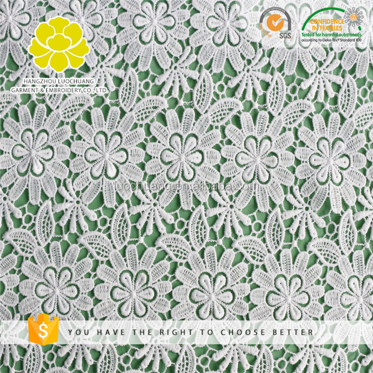 B25393 Customize Widely Used Eco-Friendly Polyester Chemical Bridal Lace