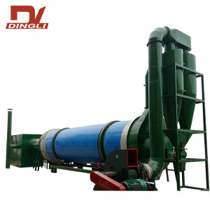 7.7t/h Hot Air High Humidity Crops Stalk Drum Dryer for India Biomass Power Plant