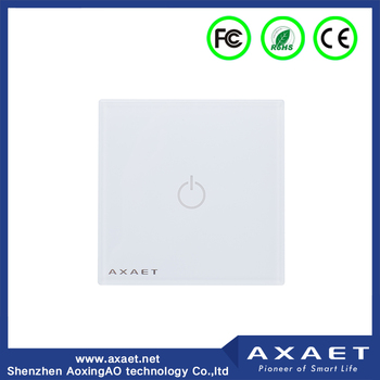 Bluetooth 4.0 screen touch remote control intelligent light smart switch for smart home