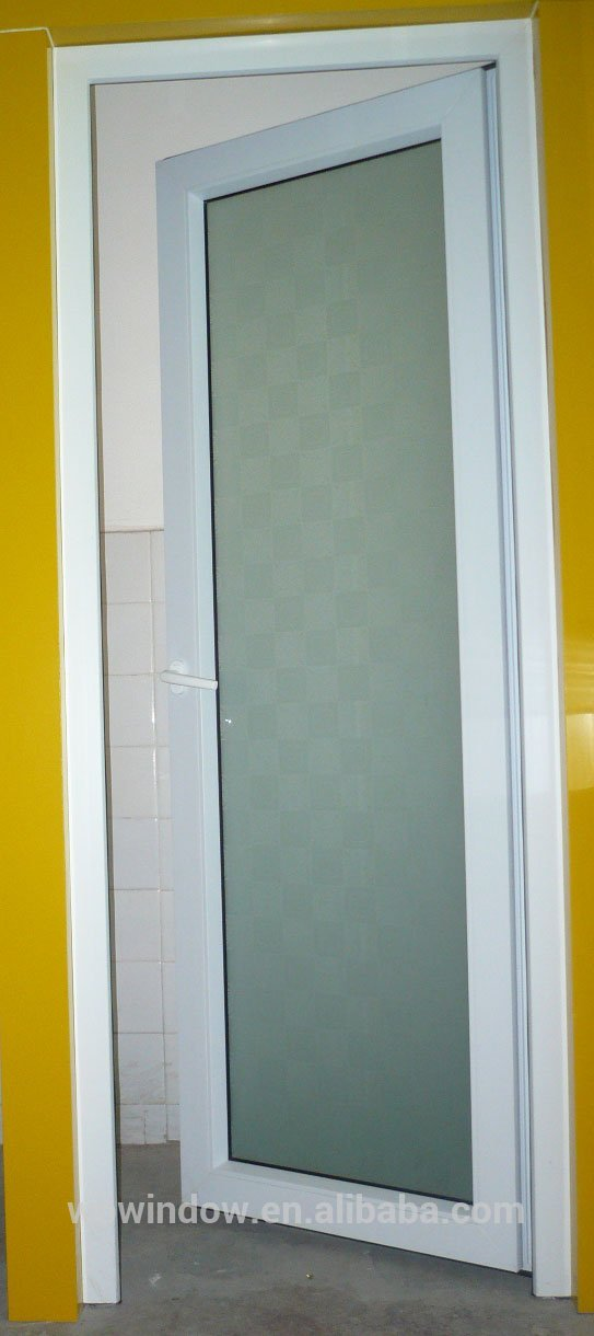 Low price pvc frosted glass bathroom casement interior for Windows and doors prices