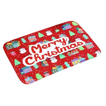 wholesale supply nylon printing latex backing large christmas rugs floor mat - Christmas Rugs Large
