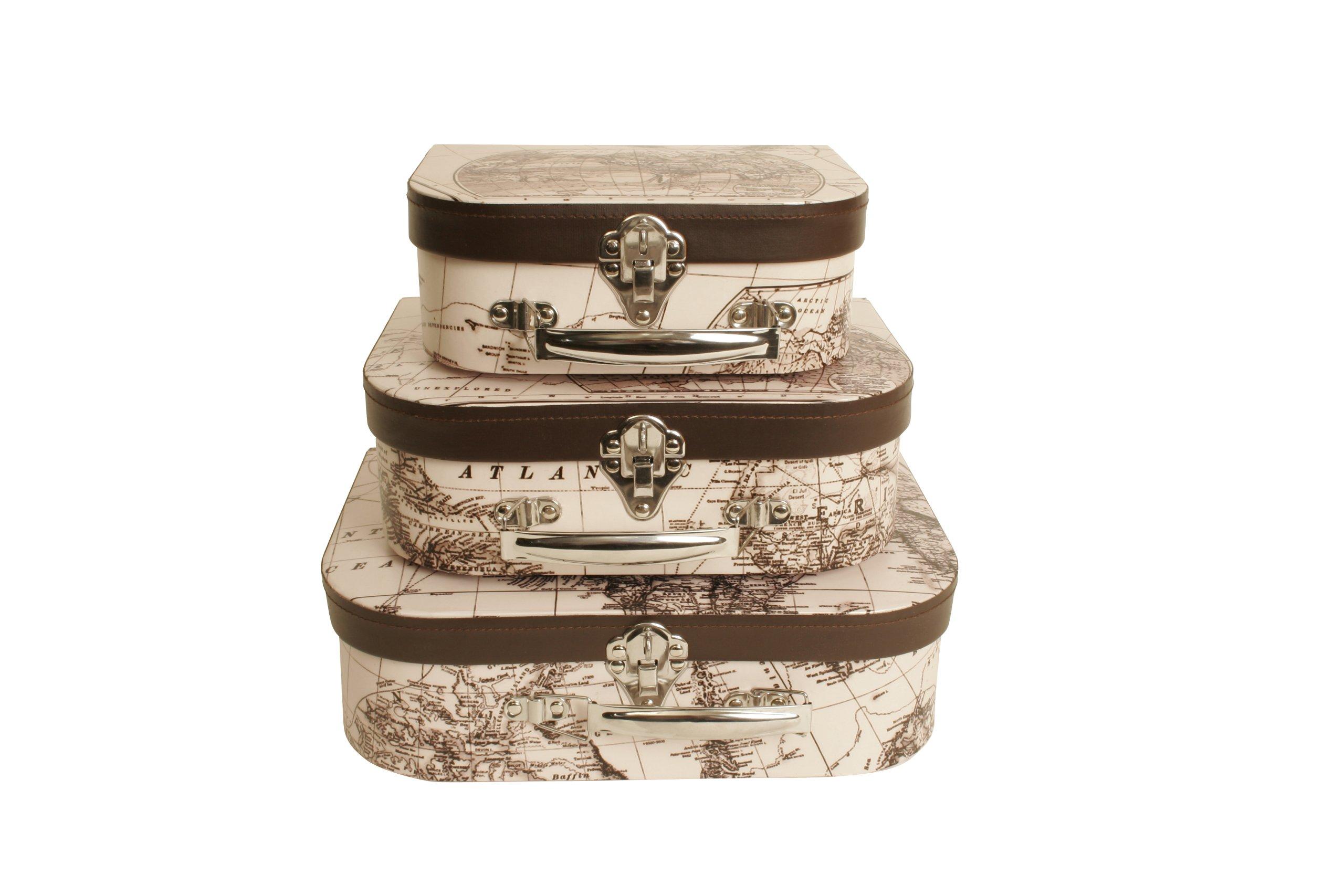 Buy Wald Imports Brown U0026 White Paperboard Decorative Storage ...