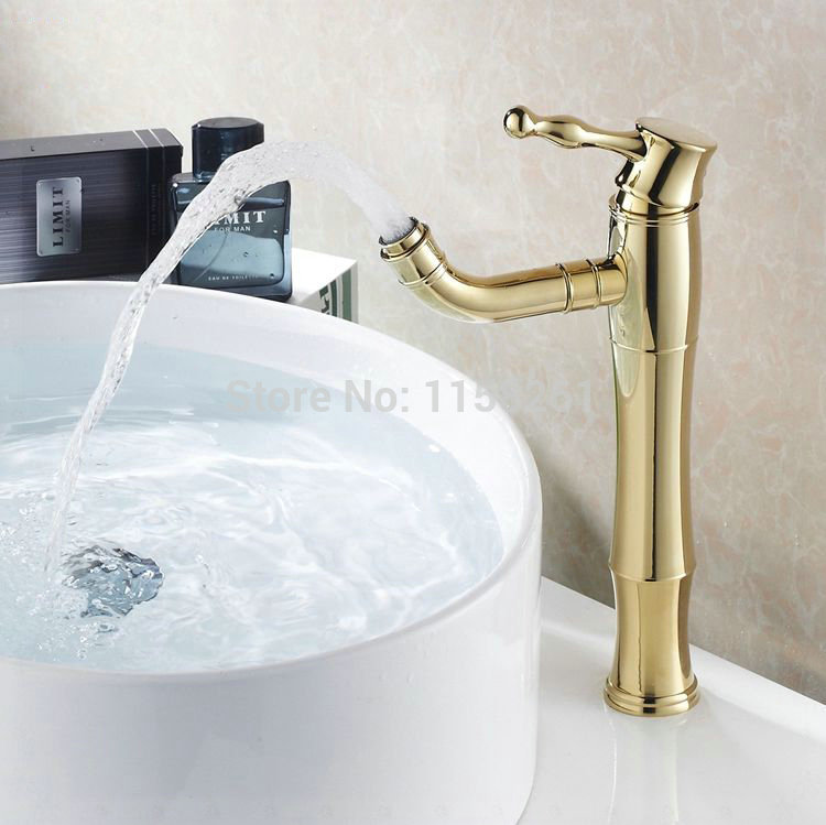 7 Faucet Finishes For Fabulous Bathrooms: Free Shipping Modern Gold Faucet,gold Bathroom Faucets