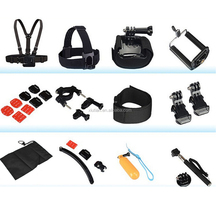 12 IN 1 Family Accessories Pack for GoPros Hero 5 4 3+ 3, Wrist Helmet Head Body Mount Band for SJ000+ yi