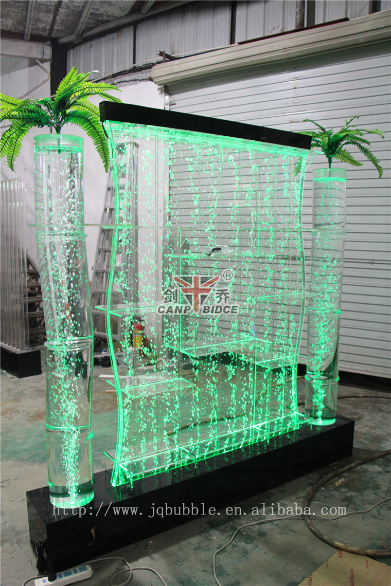 Water Bubble Wall Led Plexi Glass Corner Shelf With