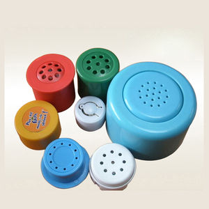 Customize press button plastic animal/music sound box for toys