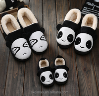 winter indoor super soft velvet slipper for parents and children with rubber sole family shoes