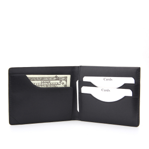 Designer wallet logos for men top grain human leather wallet