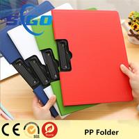 Promotional plastic PP folder file