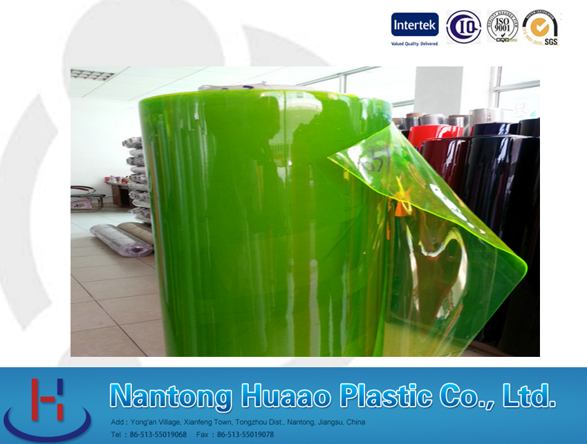 pvc colored film with mattress surface for decorative and wood grain floor cover