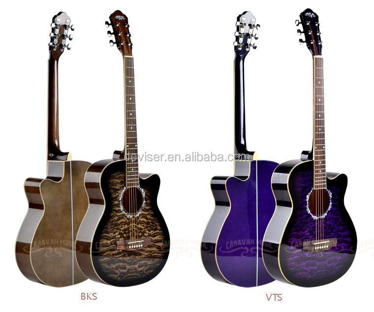China Cheaper Blue Rock Beginner Acoustic Electric Guitar For Sale