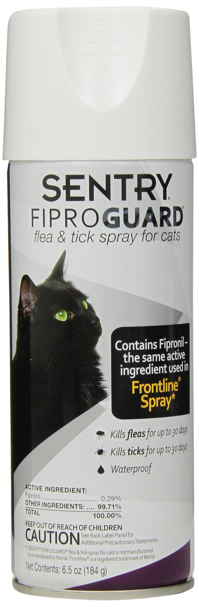 SENTRY Fiproguard Flea & Tick Spray for Cats, 6.5 oz