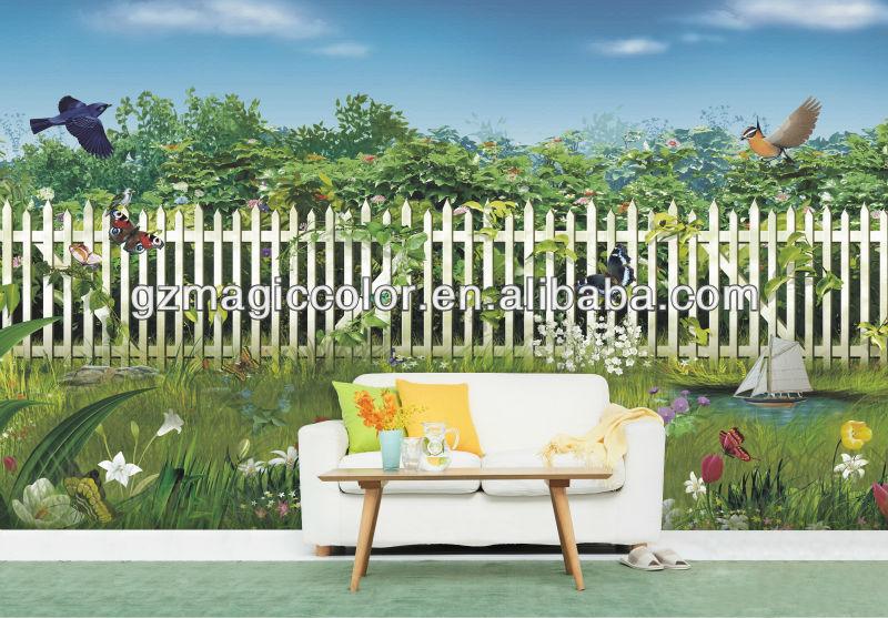 Naturaleza de jardín vistas murales de pared de diseño-Fondos y ...