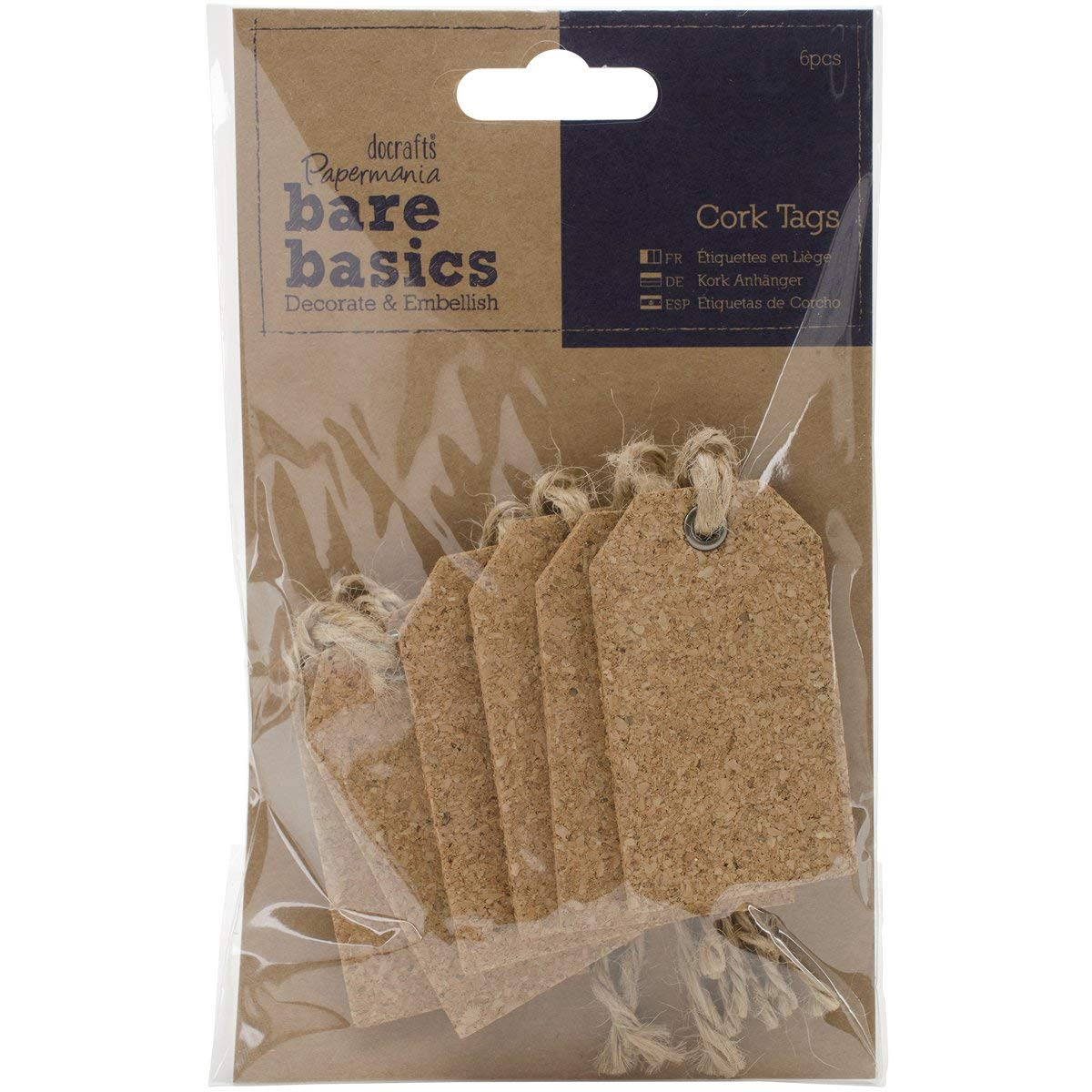 DOCrafts PM174804 Papermania Bare Basics Cork Tags Gift
