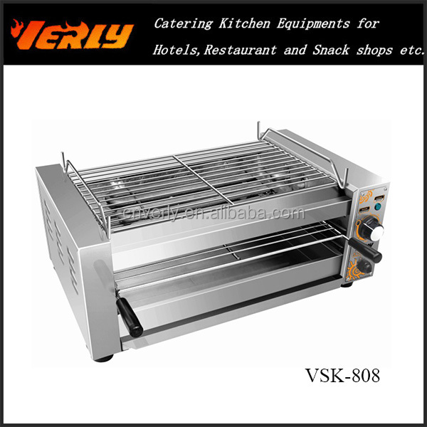 VSK-808 Electric Barbecue oven with salamander