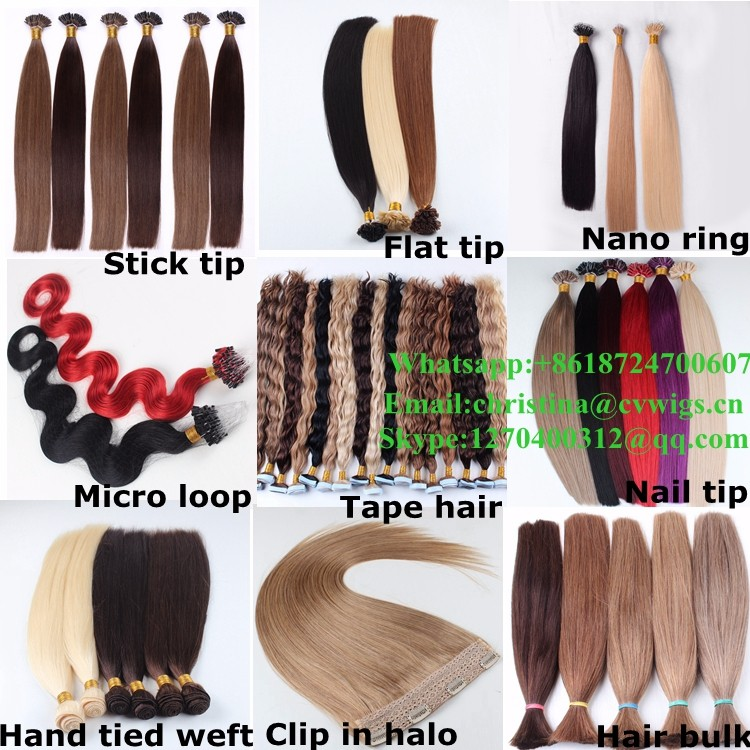 Wholesale High Quality All Colors Double Drawn 20 22 Inch U Tip Hair