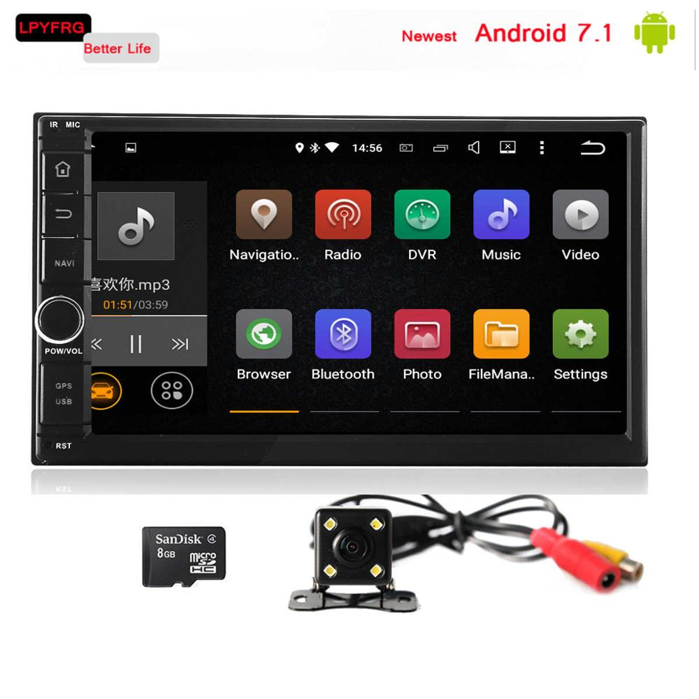 Unterhaltungselektronik Tragbares Audio & Video 2 Din Android 7.1 Auto Radio-player Multimedia Video Player Gps Navigation Audio Player