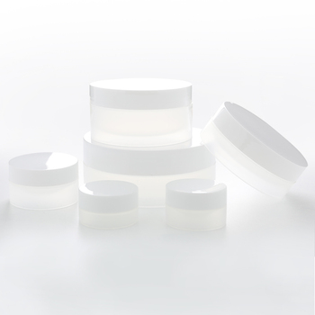 30g 50g 100g Sunk Bottom White Body Empty Plastic Cream Jar for Cosmetic Package