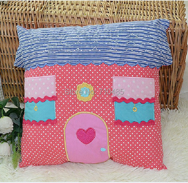 Yellow Kids Room Decor: Free Shipping Patchwork Den Room Cushion Blue Pink Yellow