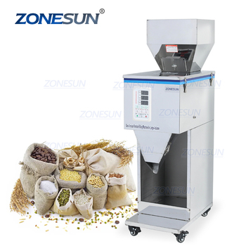 ZONESUN 2-5000G coffee beans dry spice weight filling machine nuts grain or powder packing machine supply