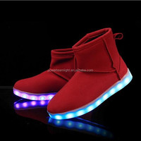 Newest High Neck Shoes For Men LED Light Up Shoe