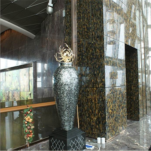 Semi precious stone slab multicolor agate backlit slab glass baseplate buy - Carrelage imitation pierre mural ...