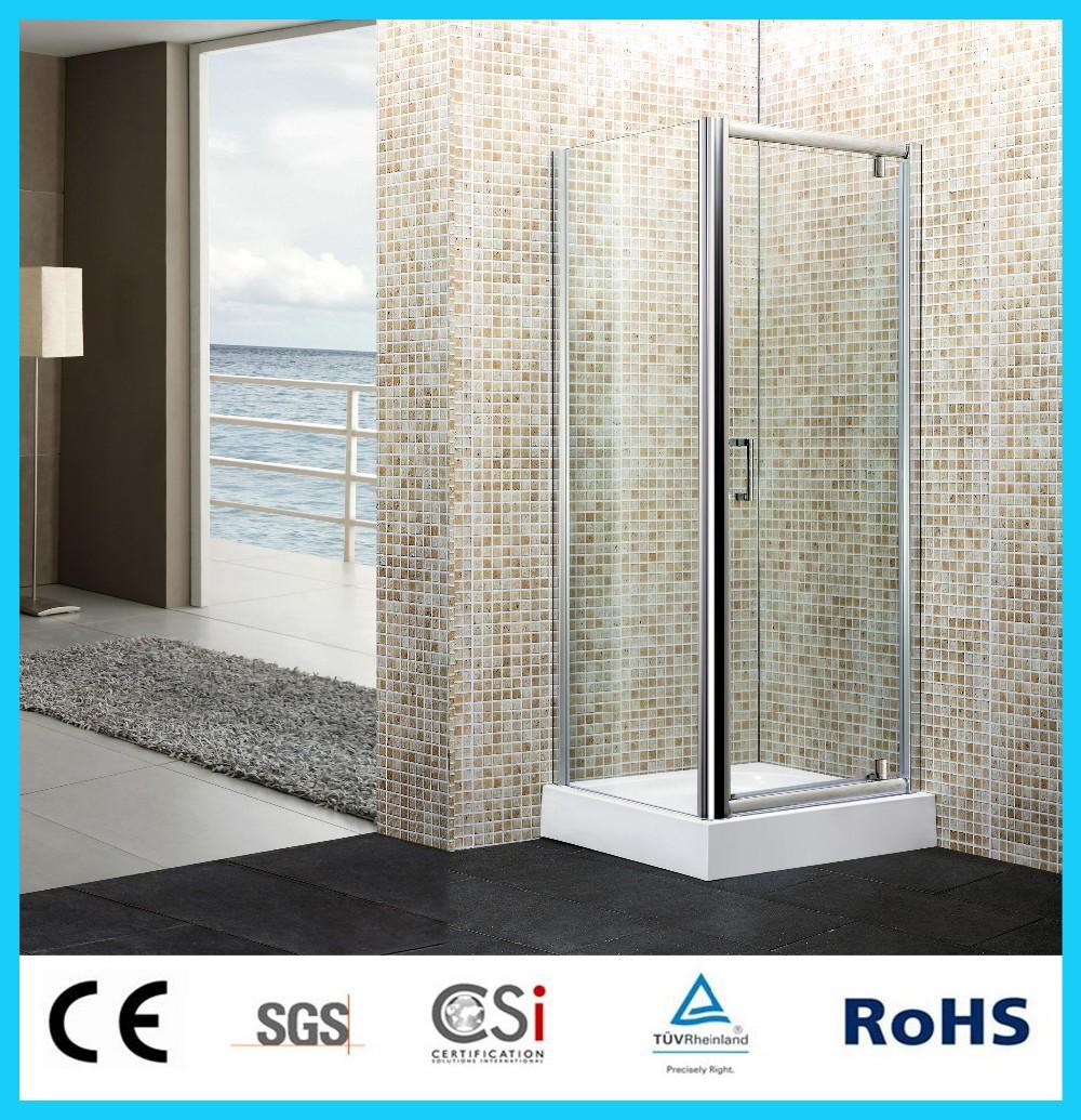 De pie 5mm cabina de ducha de vidrio limpio simple ducha for Cabina de ducha easy