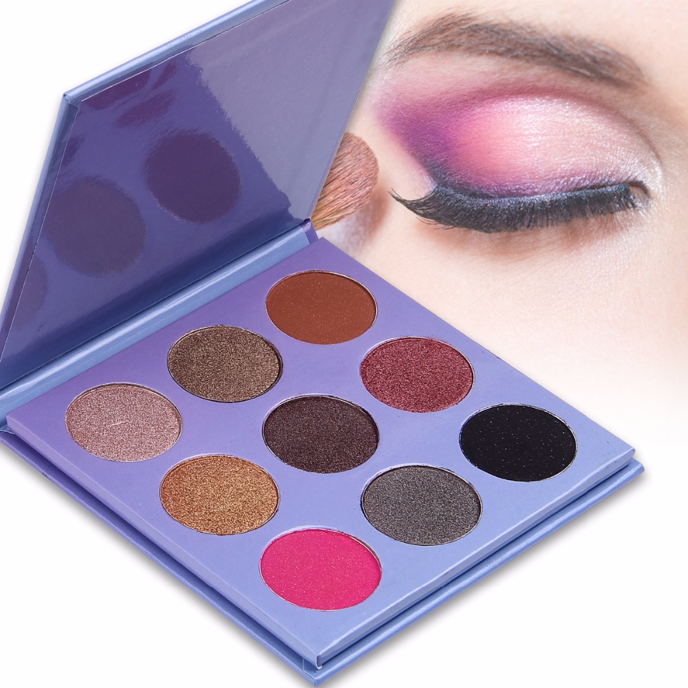 Wholesale Professional 9 colors eyeshadow palette private custom label