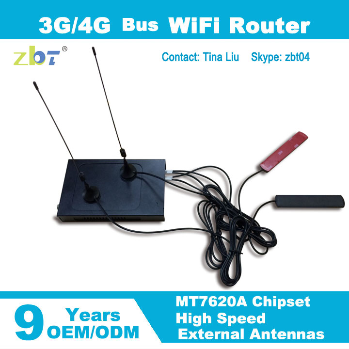 CE FCC approved openwrt 4G LTE router car wifi modem with rj45 port