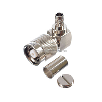 Right Angle TNC Male coaxial cable connectors 90 degrees