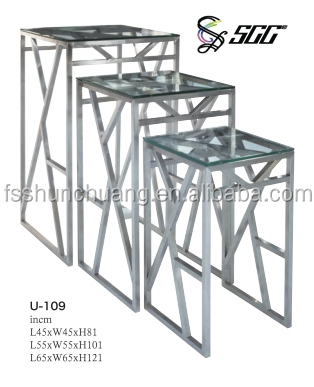 Captivating Nouble Banquet Display Food Stand / Buffet Dining Table With Stainless Steel