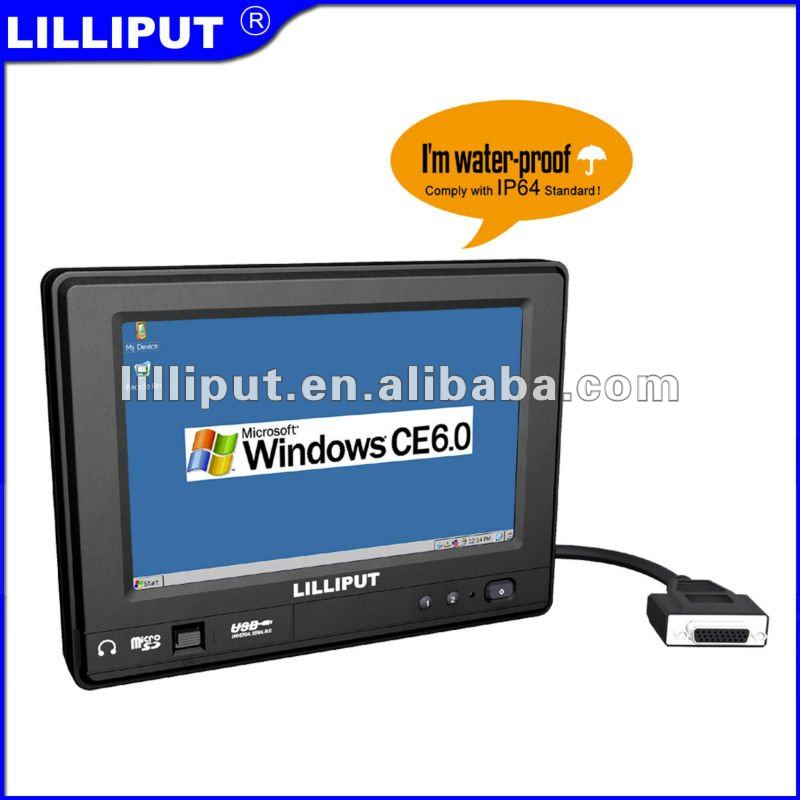 "Lilliput New-7"" Touch Computer with Windows CE 6.0 or Linux 2.6.32 with IP64"