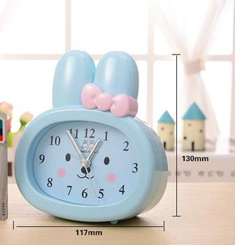 Wholesale Stock Small Order Household Small Commdities Cartoon Rabbit Table Alarm Clock