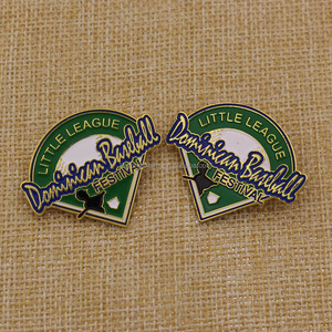 Customized gold zinc alloy metal lapel pins/little league pin badge for souvenir