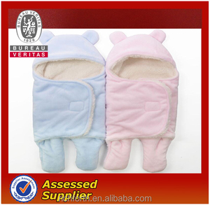 warm lambskin baby sleeping bag for newborn babies